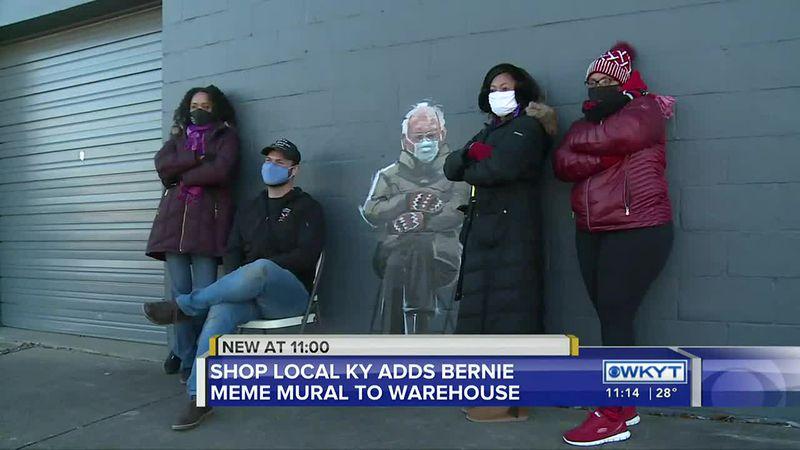 Bernie Sanders meme-inspired mural draws crowds in Lexington