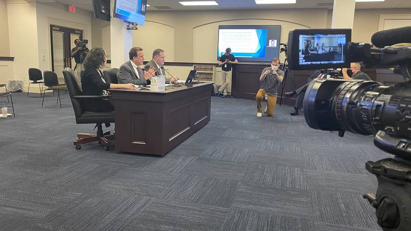State Auditor Mike Harmon testified in front of the state's Legislative Research Committee on...