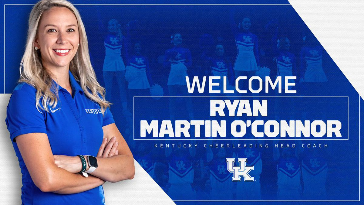 Ryan Martin O'Connor comes to UK from Western Kentucky University, where she was the head cheerleading coach and spirit program coordinator.