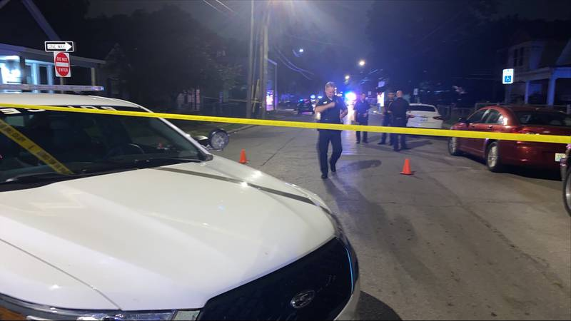 Police say they received a call about shots fired around 9:15 p.m. Saturday on East Fifth Street.