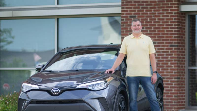 Jeremy Tuel, of Somerset, just won a Toyota CHR, all for donating blood.