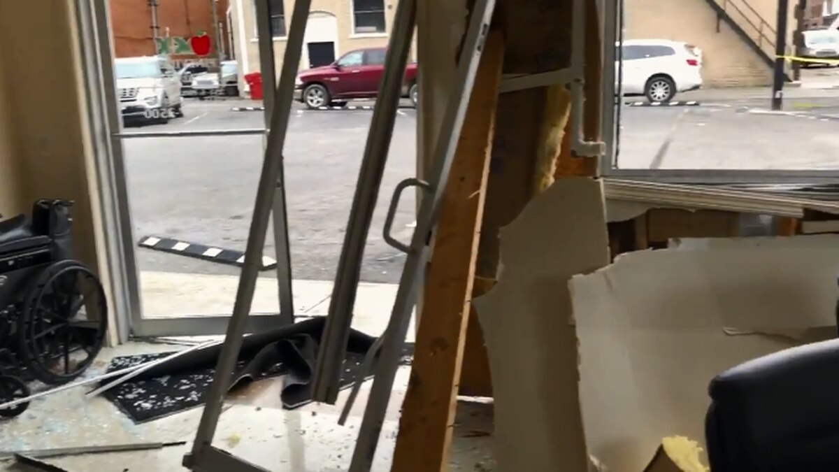 An SUV slammed through the lobby of a clinic in Bell County Wednesday morning, putting a large hole in the front.