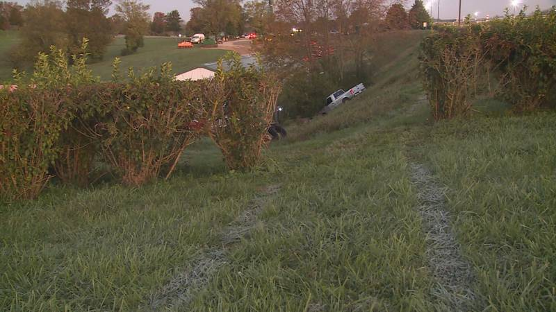 Officials say a driver crashed in an embankement right next to the main track. Police say that...