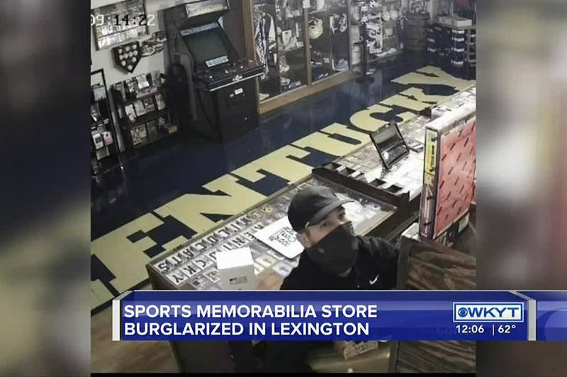 Lexington sports memorabilia store burglarized...again