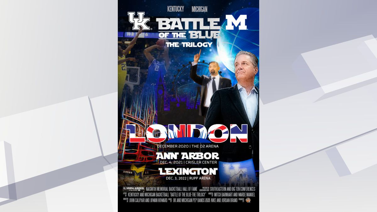 Kentucky and Michigan will begin a new three-year series starting in London, England in 2020. (UK Athletics)