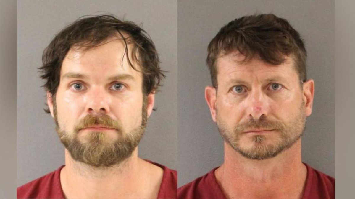 Bradford Thacker and John Maxey were arrested after officers had to rescue them from an island. (Knox County Sheriff)