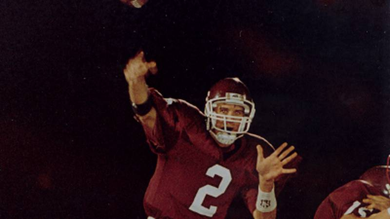 Former Leslie County (Ky) quarterback Tim  Couch set national passing records while playing for...