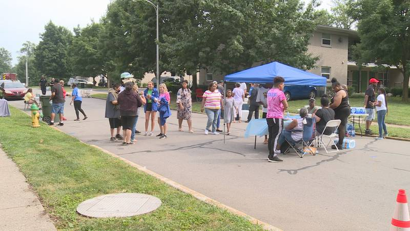 Neighbors gathered for the block party on Twelfth Street.