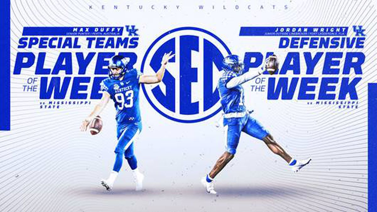 Jordan Wright and Max Duffy earn SEC Player of the Week honors.