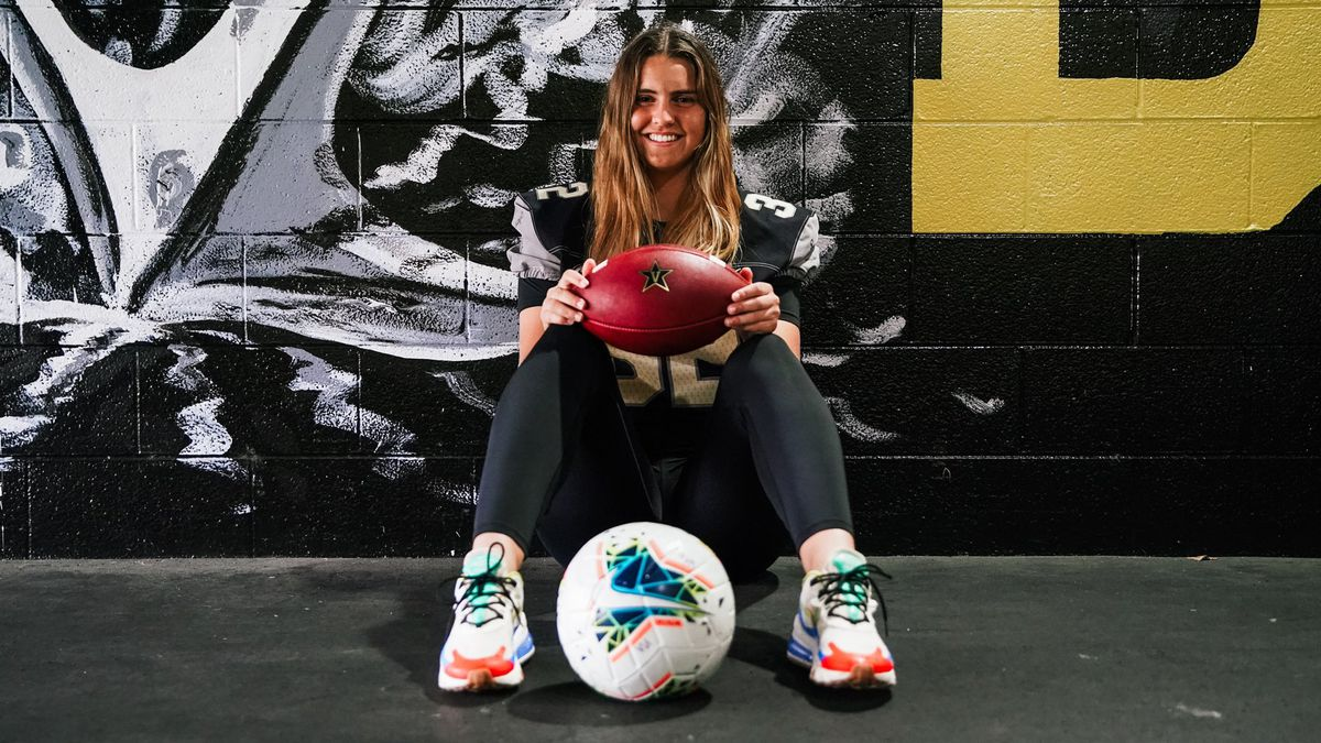 Sarah Fuller will don a football uniform on Vanderbilt's sideline.
