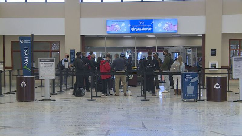 It was a busy day inside the Blue Grass Airport as travelers took advantage of the CDC's new...