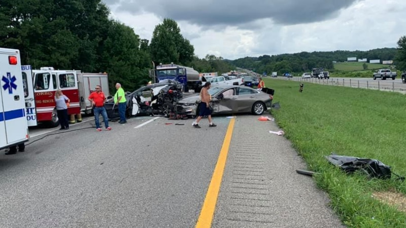 A multi-vehicle crash on I-75 in Corbin Friday afternoon.