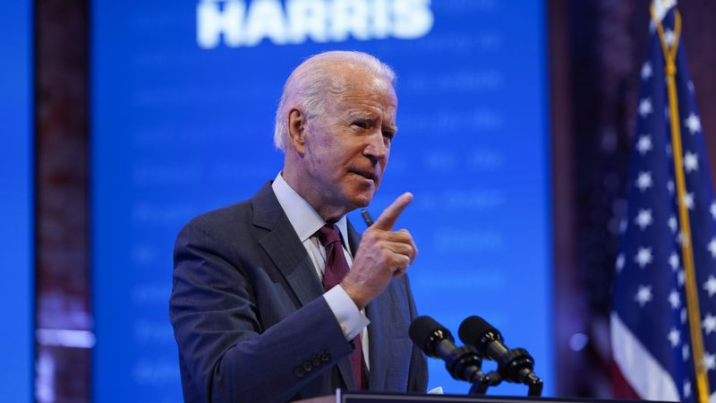 Former Vice President Joe Biden gives a speech on the Supreme Court at The Queen Theater,...