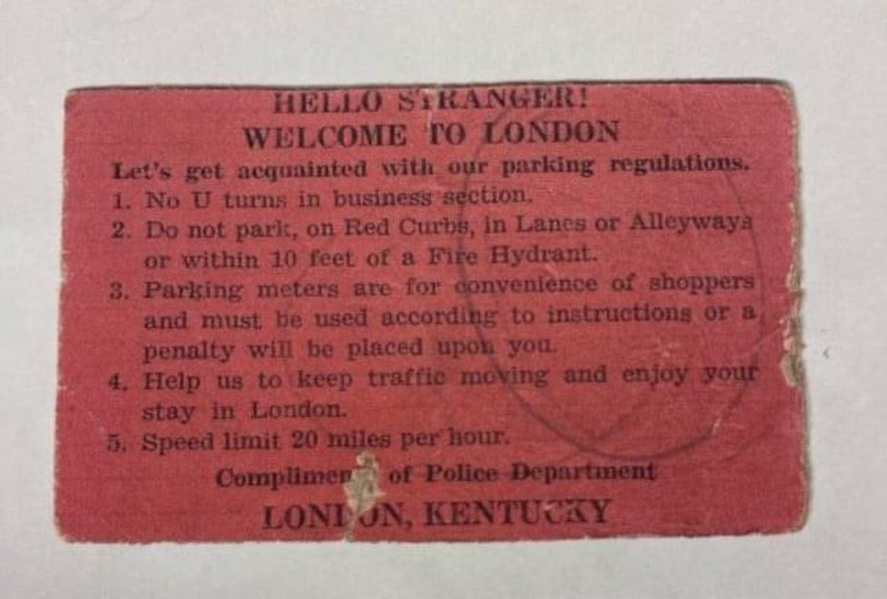 Instead of a ticket 71 years ago, this is the card a young couple was greeted with.