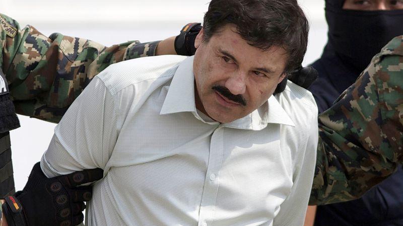"""In this Feb. 22, 2014 file photo, Joaquin """"El Chapo"""" Guzman, the head of Mexico's Sinaloa..."""