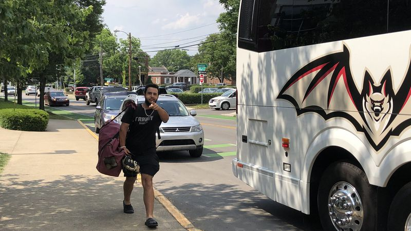 Transy baseball departing for the NCAA Tournament.