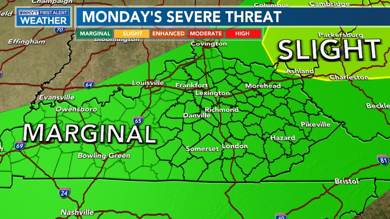 Strong to severe storms are expected Monday afternoon and evening across the Commonwealth as a...