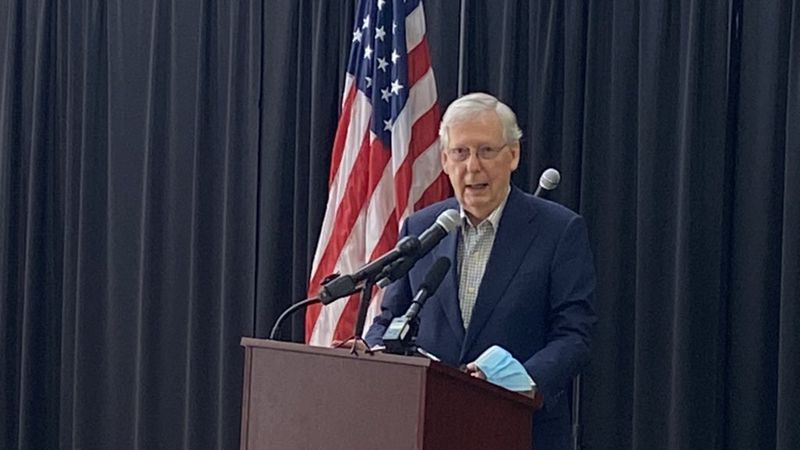 Senate Majority Leader Mitch McConnell was in Corbin Tuesday. He appeared with Congressman Hal...