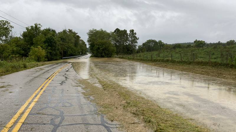 Bath County is dealing with some high water issues Wednesday.