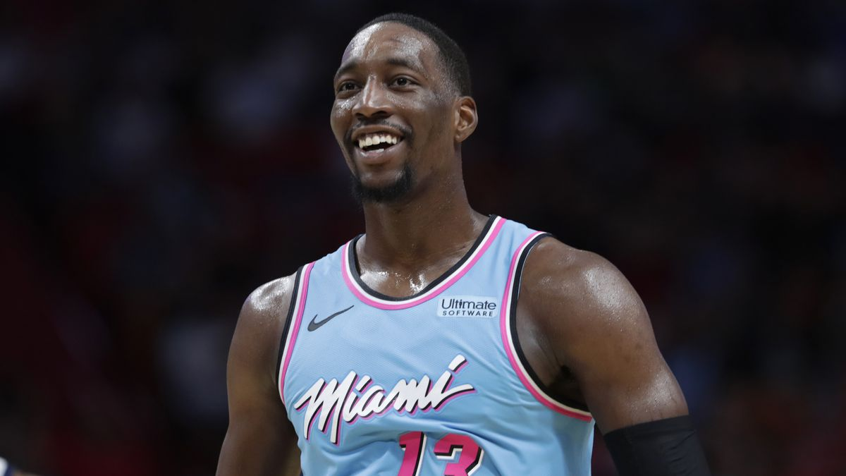 Miami Heat center Bam Adebayo in action during the second half of an NBA basketball game against the Washington Wizards, Friday, Dec. 6, 2019, in Miami. The Heat won 112-103. (AP Photo/Lynne Sladky)