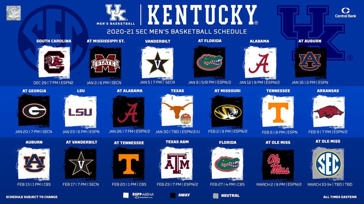 TV designations and tip times