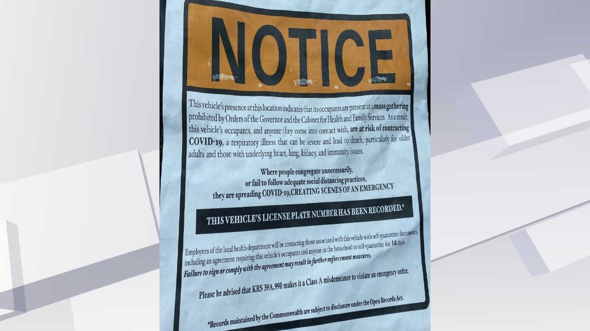 Prosecutors say the plaintiffs found this notice on their vehicle windshields after attending...