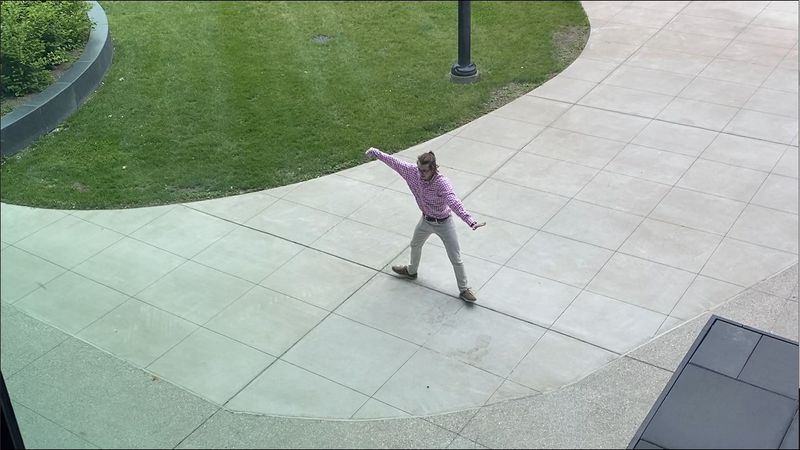 A man was caught on camera gracing the University of Kentucky campus with his epic dance moves.