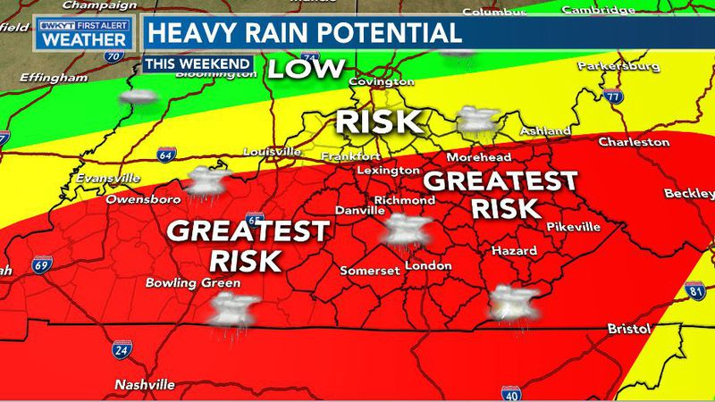 """A general 2""""-4"""" of rain will be likely across the Commonwealth through Monday morning. This..."""