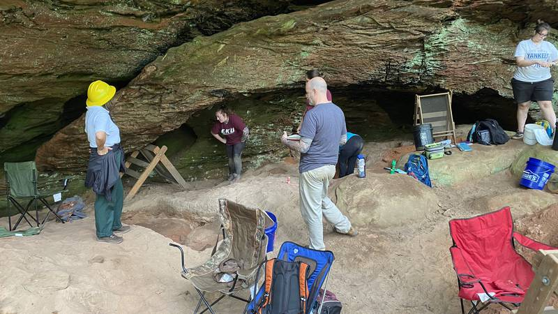 Archaeology students from Eastern Kentucky University are in Jackson County not only digging up...