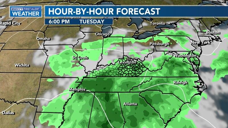 Rain chances increase for mid week