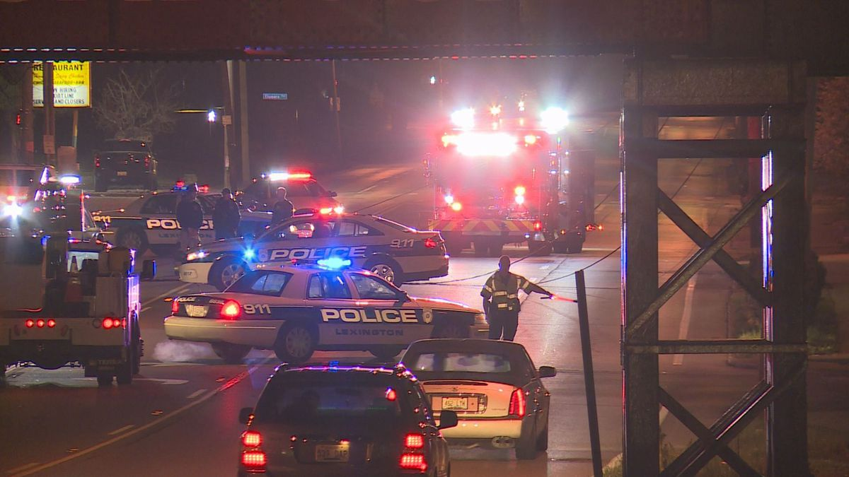North Broadway was closed after a crash brought down a light pole in the area.