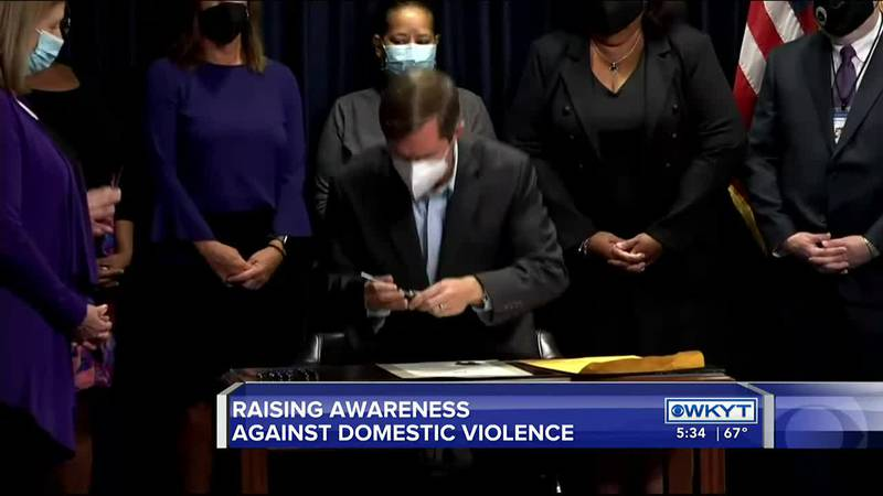 Event held in Frankfort to mark Domestic Violence Awareness Month