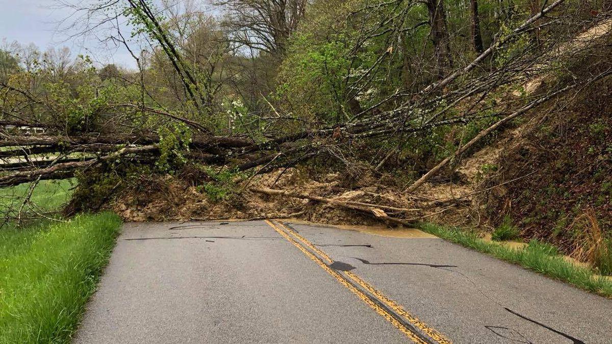Mudslide on KY 3 in Boyd County