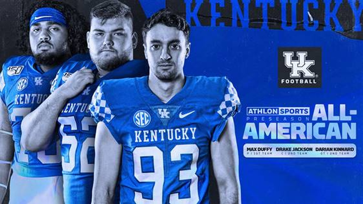 Max Duffy, Drake Jackson and Darian Kinnard were named preseason All-Americans by Athlon Sports.