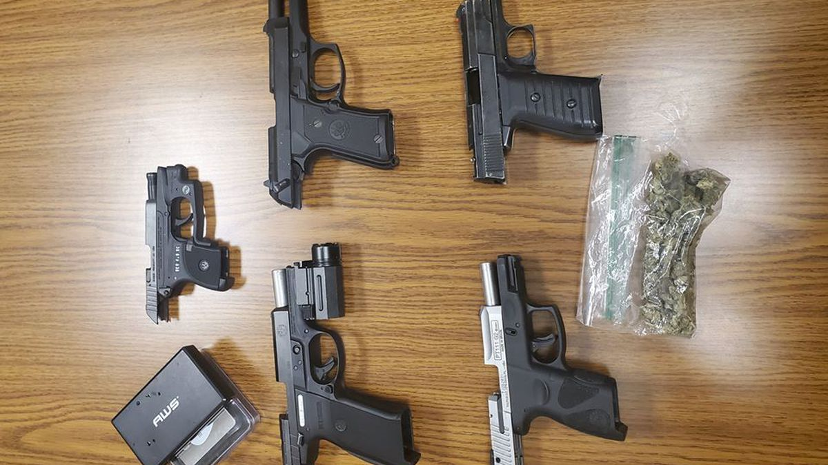 a search warrant at another Georgetown home which resulted in the recovery of four more stolen guns, ammo and drugs. (WKYT)