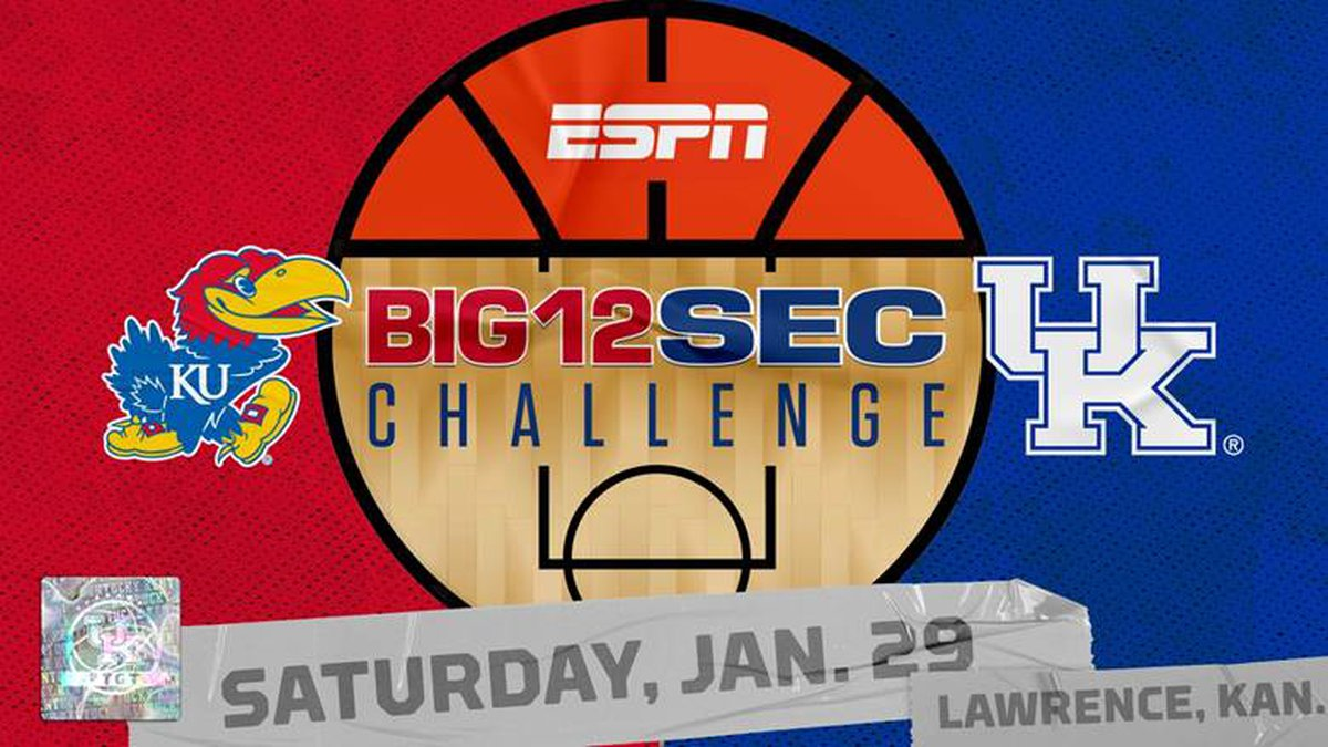 UK will face Kansas in the 2022 Big 12/SEC Challenge.