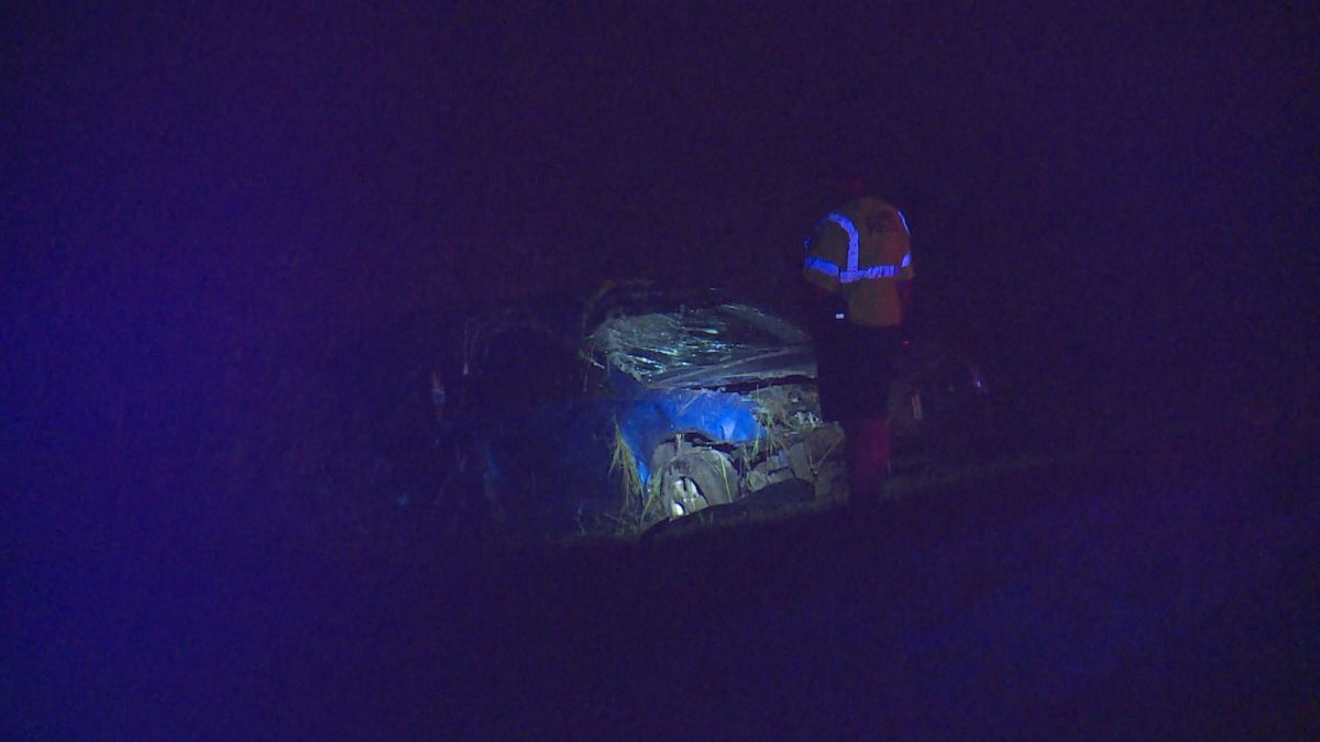 Investigators say a woman was thrown from her vehicle in the crash.