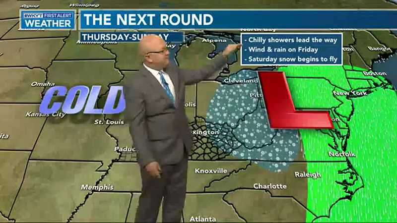 Another system will move in on Thursday