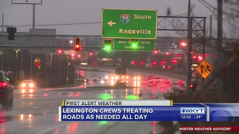 Crews working to keep Lexington's roads safe as winter weather rolls in