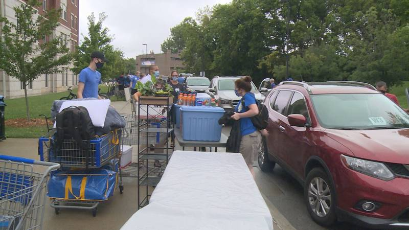 Students return to campus for the fall semester at the University of Kentucky.