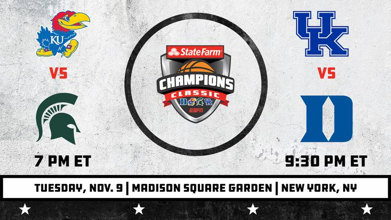 UK will face Duke in the State Farm Champions Classic at 9:30 p.m.