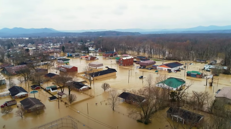 Flooding in Powell County