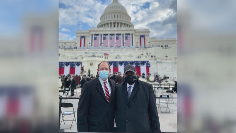 Congressman Andy Barr tweeted this picture of him and Mayor Robert Blythe at the inauguration...