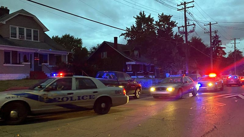 LMPD officers at a shooting scene in the 3600 block of West Jefferson. A spokesperson said a...