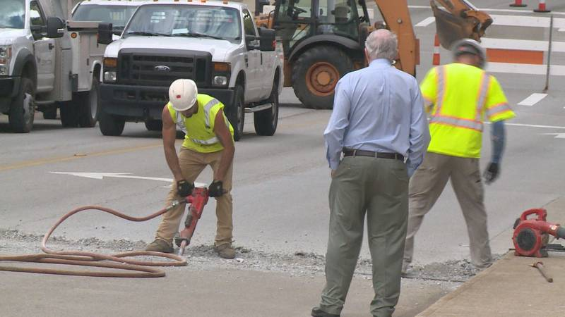 Crews expect to be working on the bridge for the next four days.