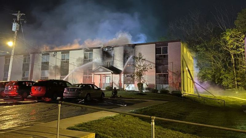 Multiple agencies responded to a fire in Florence that has displaced 70 to 100 people.