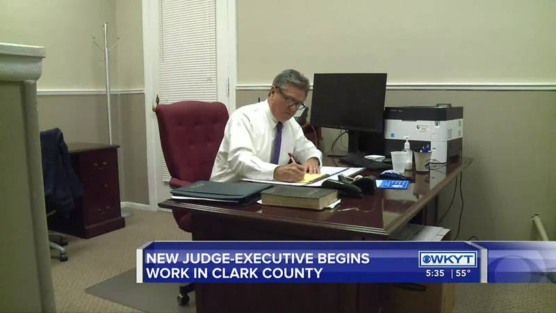 The new Clark County Judge-Executive is officially in office on Monday.