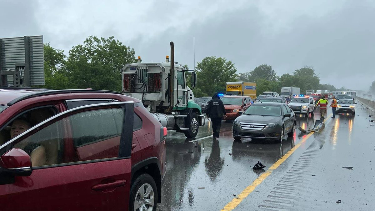The crashes are believed to be weather-related.
