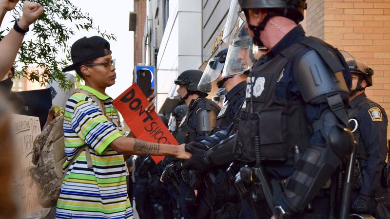 Protests remained mostly peaceful in Lexington Sunday, as hundreds filled the streets of...