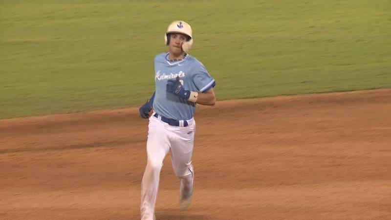 Preston Barnes hits a two-run home run in Danville's 3-0 win